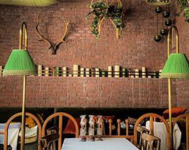 Restoran Dekoratif Tuğla Duvar Kaplama