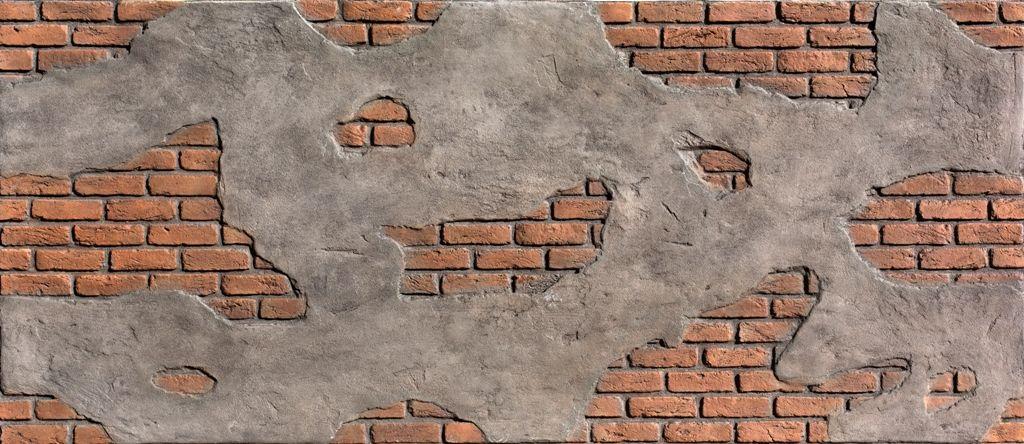 Ladrillo - Cemento Red Duvar Panelleri, Fiber Panel