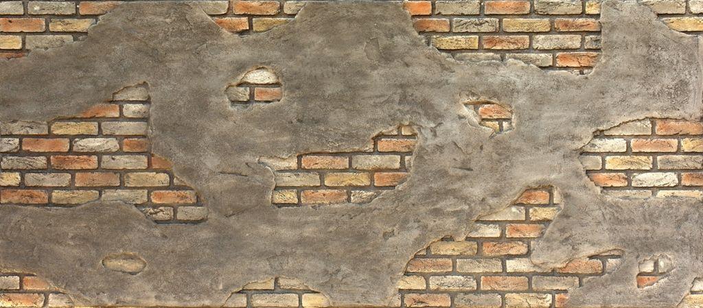 Ladrillo - Cemento Retro Duvar Panelleri, Fiber Panel